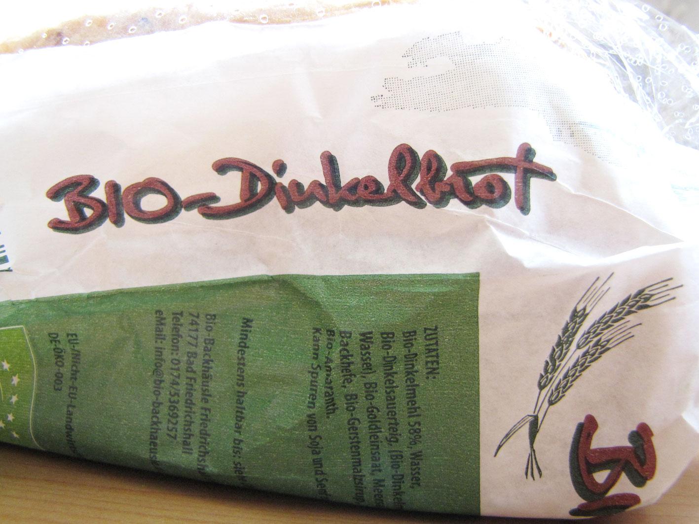 Bio-Dinkelbrot bei Aldi-Süd