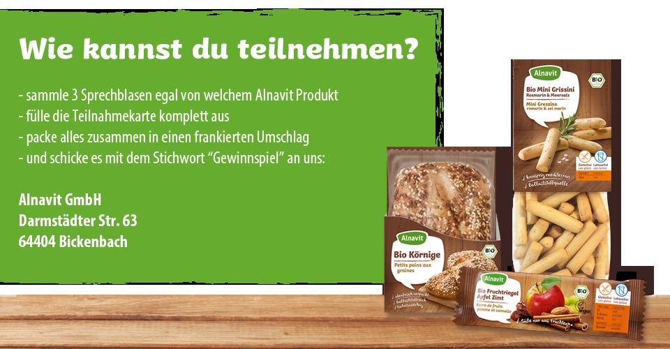 Glutenfreie Party mit Alnavit gewinnen