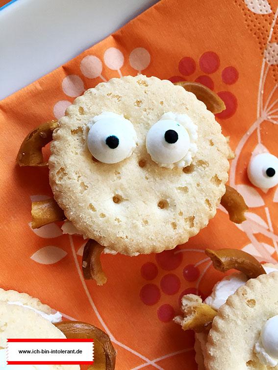 Halloween Snack: Spinnen Cracker glutenfrei
