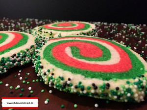Santa Swirl Cookies glutenfrei