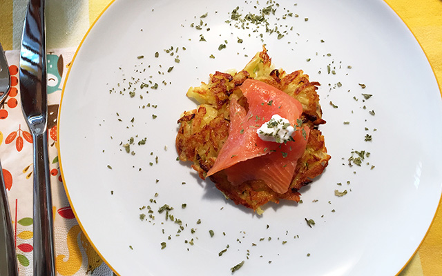 Kartoffel-Zucchini Puffer