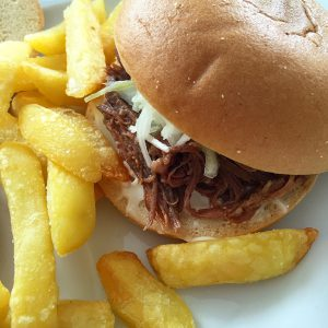 Pulled Pork Burger glutenfrei