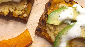 glutenfreier Avocado Kürbis Toast