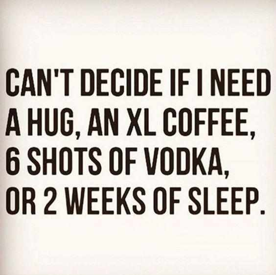 hugs and coffee please