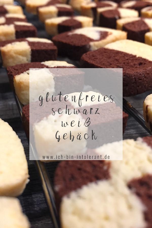 glutenfreies Schwarzweiß Gebäck
