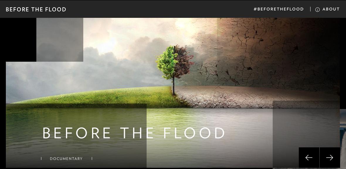 Before The Flood von Leonardo DiCaprio