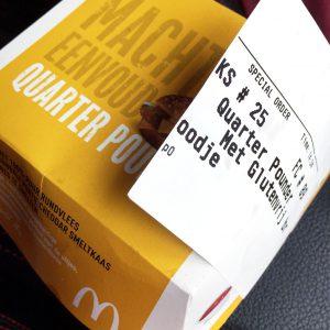 Glutenfrei in Holland - McDonald's