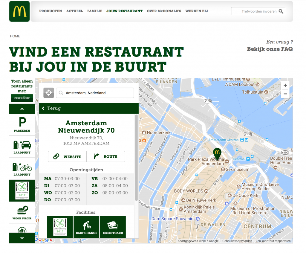 glutenfrei McDonald's Holland